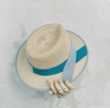 CANOTIER - Naturelle bordé ruban Gris Clair
