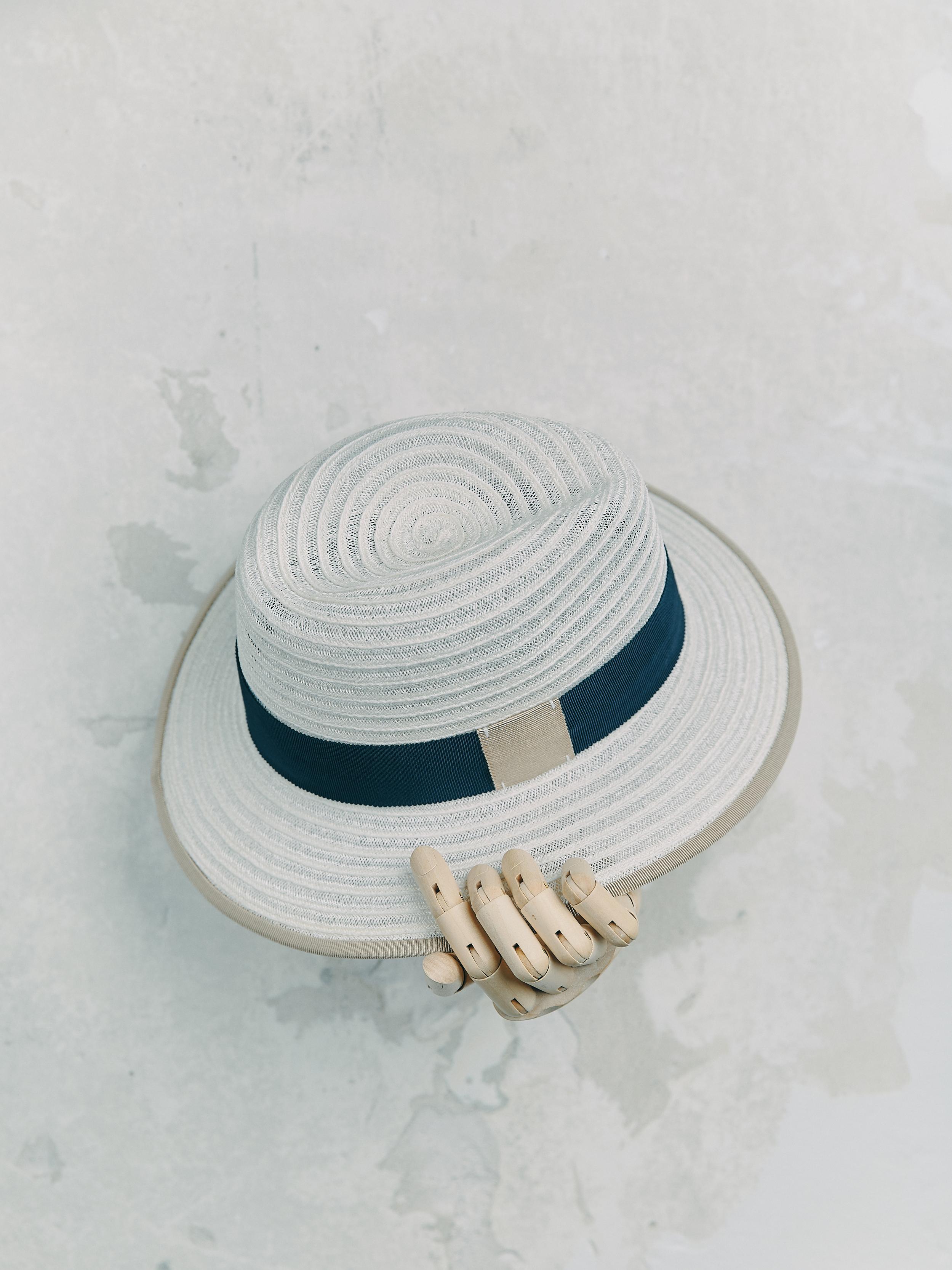 CANOTIER - Crème bordé ruban Beige