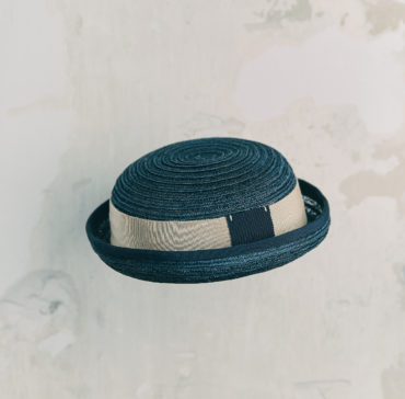 CHAPEAU ENFANT - Bleu Marine bordé ruban Bleu Marine