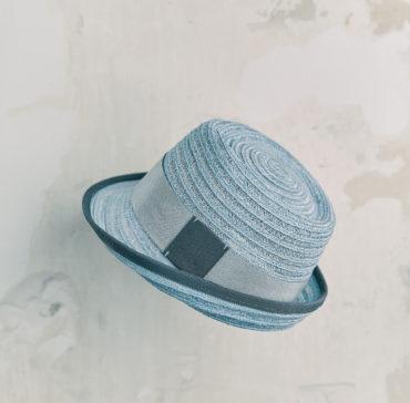 CHAPEAU TRILBY ENFANT - Bleu bordé ruban Bleu Marine